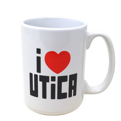 I ❤️ Utica Ceramic Mug - Utica Coffee Roasting Co.