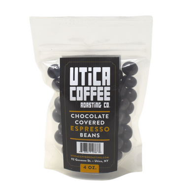 Chocolate Covered Espresso Beans - Utica Coffee Roasting Co.