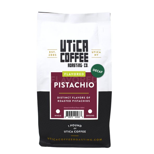 Decaf Pistachio - Utica Coffee Roasting Co.