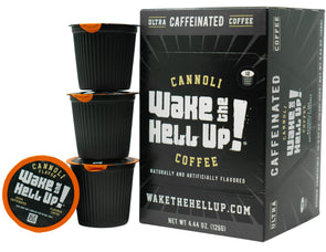 Wake The Hell Up!®️ Single Serve K-Cup Compatible Cannoli Flavored Pods