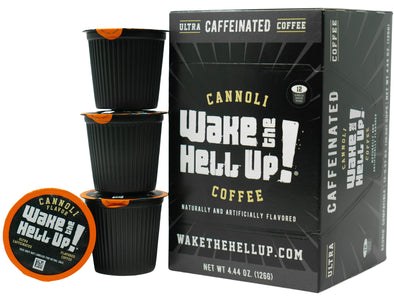 Wake The Hell Up!®️ Single Serve K-Cup Compatible Cannoli Flavored Pods - Utica Coffee Roasting Co.