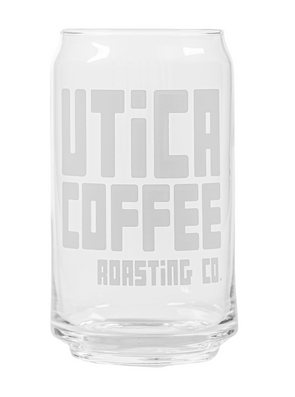 Utica Coffee Soda Can Glass - Utica Coffee Roasting Co.