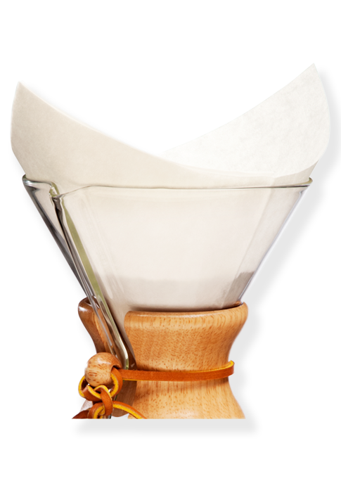 Chemex Bonded Filters Pre-Folded Squares - Utica Coffee Roasting Co.