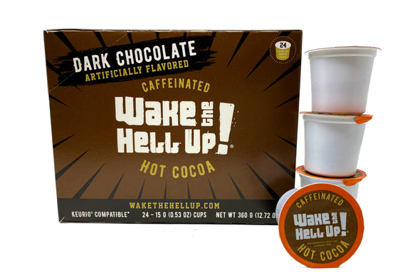Wake The Hell Up! Caffeinated Dark Hot Cocoa - Utica Coffee Roasting Co.