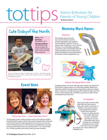 Washington Parent Magazine Toydriver