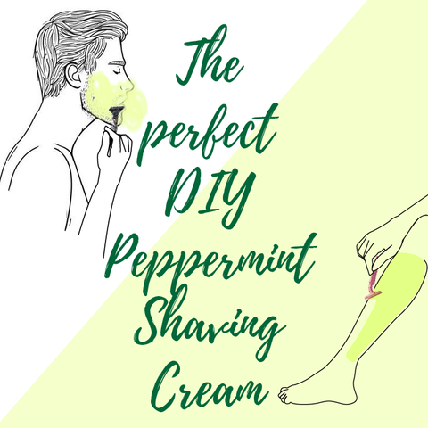 Peppermint Shaving Cream (for him & her)