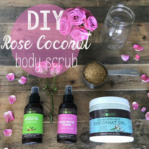 Do-It-Yourself Rose + Coconut Body Scrub