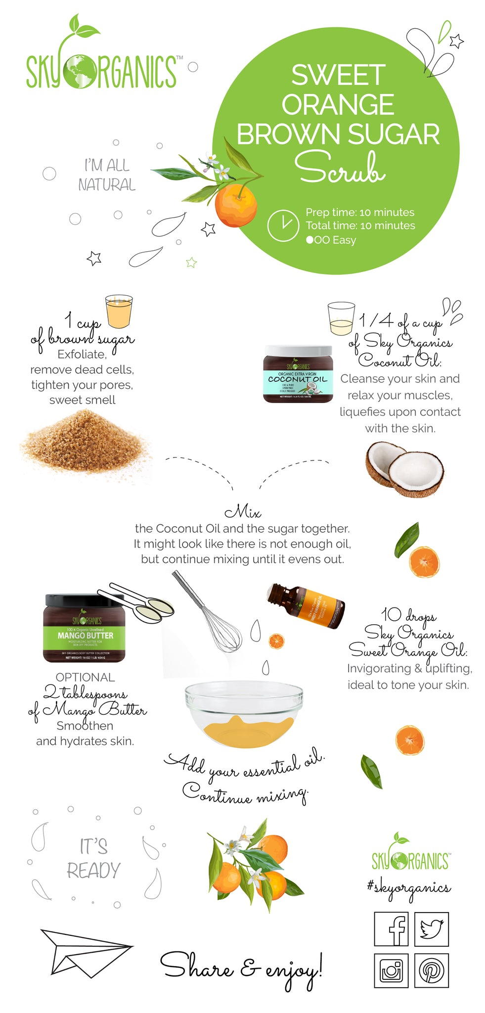 Sweet Orange Scrub Recipe