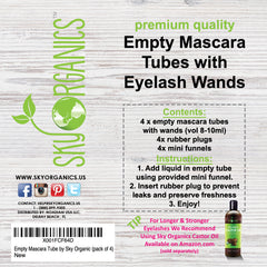 Empty Mascara Tube by Sky Organic (pack of 4)