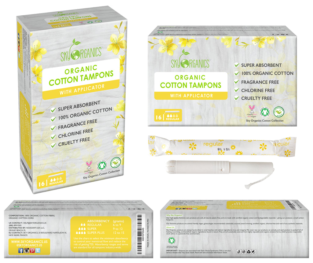 Regular Organic Cotton Tampons-3