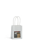 DittaDisplay Retail Solution | Sacs kraft 175gr avec fenêtre poignée torsadée 3 formats 5 couleurs Kraft bags 175gr with window twisted handle 3 sizes 5 colors Kraftbeutel 175gr mit Fensterdrehgriff 3 Größen 5 Farben
