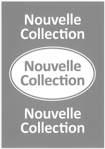 "Affiche carton ""Nouvelle Collection"" 1 face A4 10X"