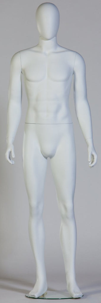 DittaDisplay mannequin all-in-one homme Sven blanc glossy