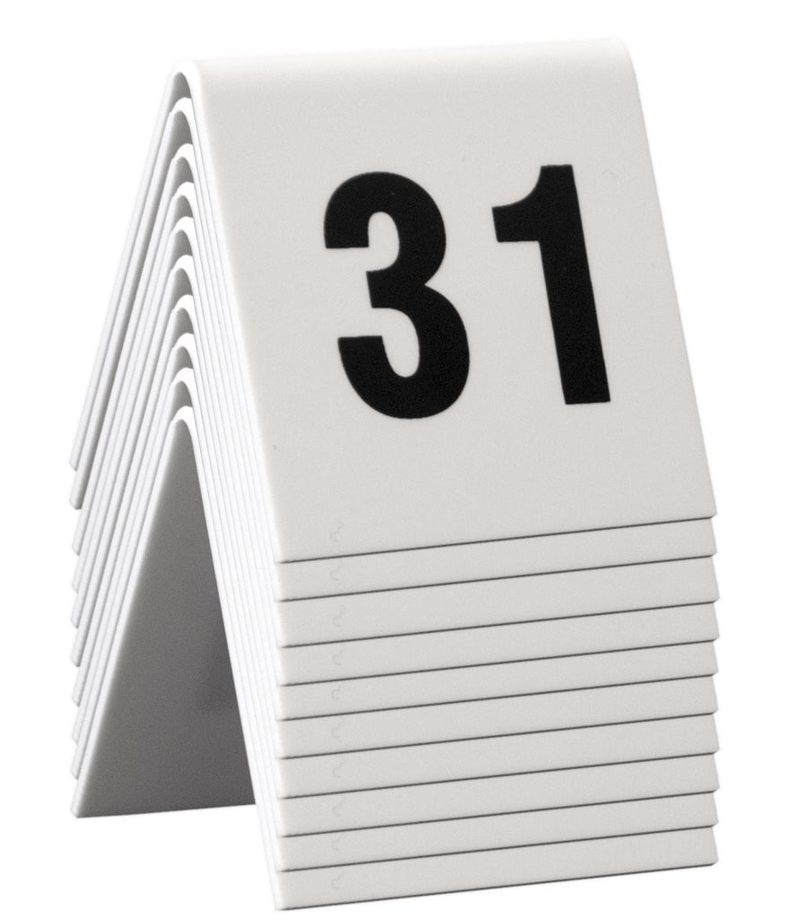 DittaDisplay numero table acrylique blanc 31-40