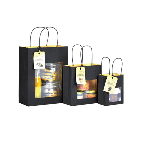 dittadisplay sac fenêtre kraft noir intense luxe recyclable
