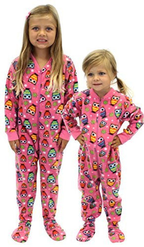 SleepytimePjs Kids Fun Printed Footed Fleece One Piece Pajamas