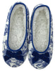 bSoft Women's Slipper in Blue Bird Toile