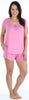 bSoft Women's Bamboo Jersey Short Sleeve Top and Shorts Pajama Set
