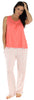 bSoft Women's Bamboo Jersey Tank and Pant Pajama Set in Bubble Gum