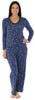 bSoft Women's Modal Long Sleeve Pajama in Paisley Blue