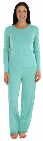 bSoft Women's Modal Long Sleeve Pajama in Turquoise