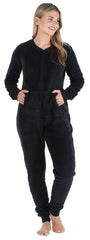 Frankie & Johnny Women's Plush Fleece Non-Footed Onesie Pajama