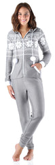 Frankie & Johnny Women's Brushed Fleece Ribbed Non-Footed Onesie