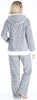 Frankie & Johnny Women's Fleece 2-Piece Full Zip Hooded Jacket Loungewear Set