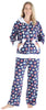 Frankie & Johnny Women's Fleece 2-Piece Hoodie and Pant Pajamas Set in Macarons