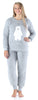 Frankie & Johnny Women's Sherpa Fleece Long Sleeve Pajama Set in Polar Bear's