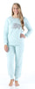 Frankie & Johnny Women's Sherpa Fleece Long Sleeve Pajama Set in Elephant