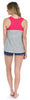 Frankie & Johnny Women's Pink Tank and Short Set