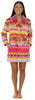 Frankie & Johnny Women's Fleece Short Robe in Fun Fairisle