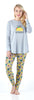 Frankie & Johnny Women's Knit Food Themed Tunic and Leggings Pajamas Set