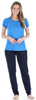 Frankie & Johnny Women's Cotton Tee Shirt and Sweat Pant Pajama Set