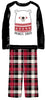 Our Family Pjs Christmas Family Matching Fleece Red & Black Plaid Pajama Sets
