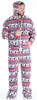 SleepytimePJs Men's Fleece Hooded Footed Onesie Pajamas in Deer Fair Isle