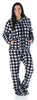 SleepytimePJs Women's Fleece Hooded Footed Onesie Pajamas