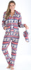 SleepytimePjs Family Matching Deer Fairisle Onesie Footed Pajamas