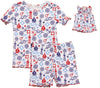 SleepytimePjs Family Matching Nautical Cotton Pajama for the Family in Kids Ruffled Trim