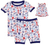 SleepytimePjs Family Matching Nautical Cotton Pajama for the Family in Kids Cuffed Trim