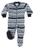 SleepytimePjs Family Matching Fleece Penguin Fairisle Onesie Footed Pajamas in Infant