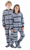 SleepytimePjs Family Matching Fleece Penguin Fairisle Onesie Footed Pajamas in Kids