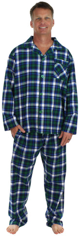 SleepytimePjs Men's Holiday Button-Down Flannel Pajamas