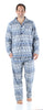 SleepytimePjs Christmas Family Matching Navy Nordic Pajamas Set in Men