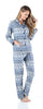 SleepytimePjs Christmas Family Matching Navy Nordic Pajamas Set