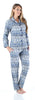 SleepytimePjs Christmas Family Matching Navy Nordic Pajamas Set in Women