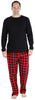SleepytimePjs Christmas Family Matching Buffalo Plaid Flannel Pajamas for The Family for Men - Lounge Set