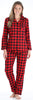 SleepytimePjs Christmas Family Matching Buffalo Plaid Flannel Pajamas for The Family for Women - Lounger