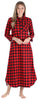 SleepytimePjs Christmas Family Matching Buffalo Plaid Flannel Pajamas for The Family for Women - Nightgown